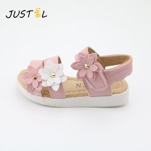 Justsl Children's 2018 Summer New Kids Lovely Flower Fashion Girl Sandals Magic Baby Shoes para Kiad 21-36 MX190727
