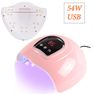 54W prego grande lâmpada LED para manicure Máquina de Secar lâmpada UV para a cura Gel UV Com Movimento Sensing