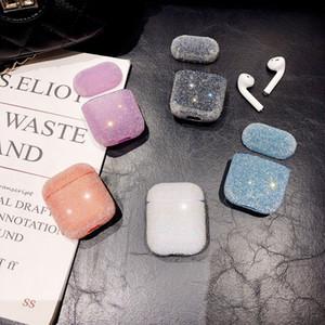 Pour Airpods Cas Housse De Protection Flash diamant femme fille Bluetooth Écouteurs cas pour Airpod 1 2 Charing Cas Avec Crochet