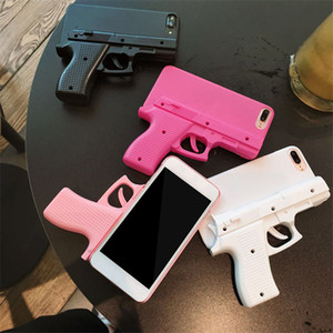 3D Model Gun Phone Case Cover For iphone 11 Pro Max Xr Xs 8 7 6 6s Plus protective Cover Shell Free Shipping