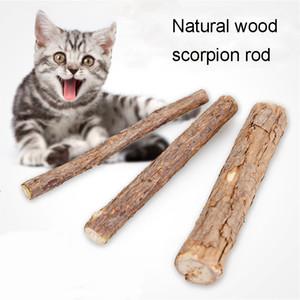 Limpeza dos dentes do gato Puro Vegetal Natural Catnip Pet Cat Molar vara dentífrico Matatabi Actinidia Fruit Gato Snacks Varas Toy BH1713 CY