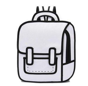 رسوم متحركة كارتونية ذات بعدين حقيبة ظهر فاخرة شخصية مميزة حقائب مدرسية عالية الجودة///