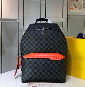 새로운 최고 품질의 남성 여성 럭셔리 디자이너 배낭 격자 무늬 정품 가죽 배낭 가방 소녀 소년 브랜드 패션 가방 37 배 40 배 20cm