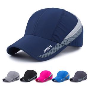 Men Women Outdoor Sport Baseball Mesh Hat Running Visor Quick-drying Cap 6 Colors Ball Caps Male Female