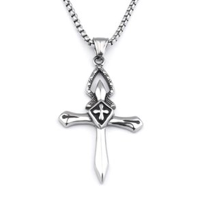 S1429 Hot Fashion Jewelry Vintage Cross Necklace Punk Cross Pendant Chain Necklace
