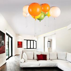 luz de colores globo de techo, cuarto de los niños niño lámpara de luz de la habitación del bebé, estudio sala de estar lámpara de techo de jardín de infancia barra de pub 20CM