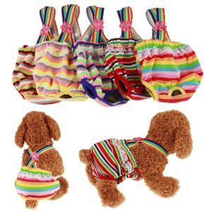 Pequeños lindo perro de mascota braga sanitaria de los pantalones de la ropa interior de las bragas de higiene corta de algodón para mascotas fisiológica bragas WC para perros Cachorro Promoción