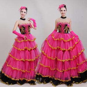 Festival célébration Dance Wear costume national de scène pour les femmes carnaval sexy coloré robe de danse moderne