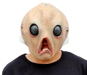 Alien Korkunç Maske Cadılar Bayramı Festivali Parti Cosplay Kostüm Malzemeleri Tam Yüz Alien Korku Lateks Parti Maskesi