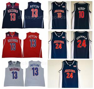 NCAA Koleji Arizona Wildcats 13 DeAndre Ayton Forması Erkekler Basketbol 10 Mike Bibby 24 Andre Iguodala Formalar Lacivert Beyaz Kırmızı