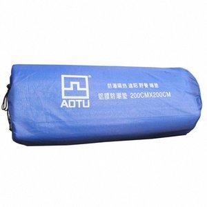 2018 Copia de Aotu Nueva 200200cm aluminio aislante y Senderismo de aislamiento de espuma Colchoneta amortiguador de la manta del cojín de la excursión que acampa ge1g #