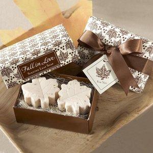 Ручной Ароматические Maple Leaf Мини мыло для свадьбы пользу Baby Shower партии Валентина Любовь Подарочная упаковка коробки подарка LX8638