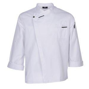 Escudo elegante chaqueta de chef de cocina Uniformes transpirable Trabajo Chef Apparel