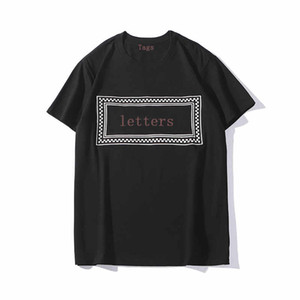 20SS Erkekler Gömlek Yaz Erkek Tees Kısa Kollu Erkekler ve Kadınlar Tshirts Casual Erkek Streetwear Giyim Boyut S-2XL Tops