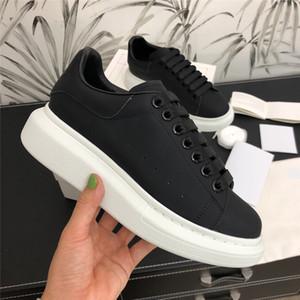 رجل إمرأة حذاء رياضة حذاء عرضي منصة المدربين الجلد المدبوغ أحذية جلدية المشي يوميا chaussures الترفيه اللباس أحذية رياضية