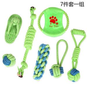 Doggy Cotton Rope Pet Dog Toys Um Molar Tooth Tooth Limpeza Cães Mordida O Cabo Animais de Estimação Cordas Combinação Terno 18 81md p1