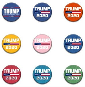 16Sstyles 2020 Trump Banner Badge Trump Brooches Donald America Great Again Trump Election Armband Badge Party Supplies GGA3221