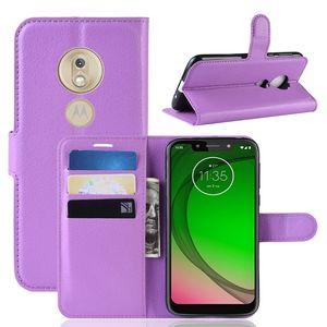Litchi Porte-monnaie en cuir pour G MOTO Stylus G7 Power Play P40 Google Pixel 3A XL Huawei Nova P30 4E Lite Leechee Support Housse de luxe