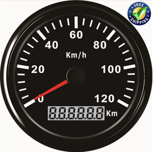 1 0-120km / h의 GPS 속도계 튜닝 85mm LCD GPS 속도 마일 게이지 게이지 장치 자동차 보트 용 안테나가있는 속도 차트