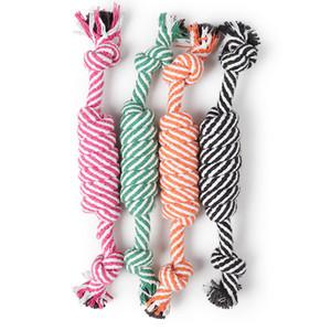 24CM Cane giocattoli divertenti corda del cotone gioca per il piccolo cucciolo cani Pet Chew Supplies Giocattoli Pet colori casuali