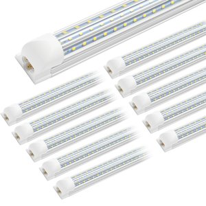 SUNWAY-USA , V-Shaped + D-Shaped 4ft 8ft Cooler Door Led Tubes T8 Integrated Led Tubes Double Sides Led Lights 100-277V Stock In US