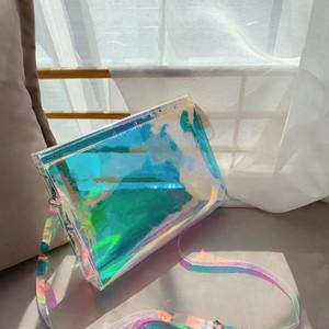Freeship Marka Yizikiy kadın Çantası 2020 Yeni Kore Moda Tek Omuz Çantası PVC Yaz Taşınabilir Şeffaf Çanta Temizle