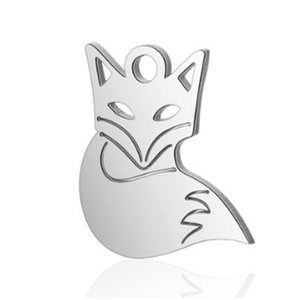 DIY Jewelry Stainless Steel Full Polished 12*14mm Animal  Charm Pendants for Bracelet Necklace Jewelry Making Wholesales