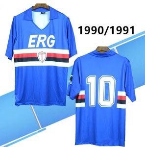 RETRO 1990 991 Sampdoria Mancini Formalar Vialli rShirts Italia Calcio MAGLIA formalarını Praet Linetty Praet Jeison Murillo Gabbiadini