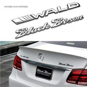 Aplicable a las pegatinas de coches BMW Mercedes-B wald negro de cola del coche bisontes marca de límite de palabras Modificado insignia del coche bisonte