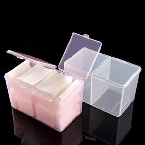 Nail Art Plastic Storage Case Organizer Container Cleaning Cotton Pad Drawing Brush Pen Polishing Sponge Buffer Decor Box Tool