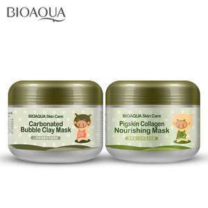 48PCS BIOAQUA pig carbonated bubble clay Mask 100g remove black head skin pores face care facial sleep mask BIOAQUA Skin Care