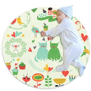 De alta qualidade Grande Rug bebê para Quente Nursery Crianças Soft Round Activity Mat Área Rugs antiderrapante para Crianças Crianças Bedroom