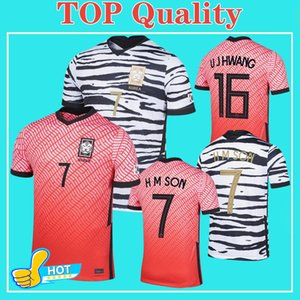 2020 Corée du Sud Football Jersey Corée Accueil à l'extérieur SON # 7 SON # 6 I B HWANG 20 21 TOP Shirts Thai football Qualité