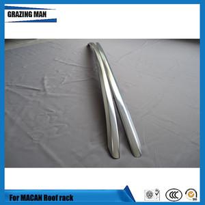 alliage d'aluminium Rails de toit Porte-bagages Bar Porte-bagages Bars haut Racks Boîtes rail pour les ventes Porsche Macan 2014-2018 usine