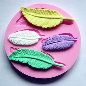 High quality Feather Shape Collection 1 pc Cake Mold Silicone Fondant Soap Chocolate Decoration Mould Candy Jelly 3D Fondant Lace Mold