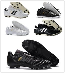 2019 New Copa Mundial FG White Mens Shoes صنع في ألمانيا الأخف FG كرة القدم المرابط أحذية كرة القدم للماء أرخص
