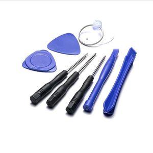 Herramientas de reparación de teléfonos celulares 8 en 1 Kit de palanca de reparación Herramientas de apertura Destornillador ranurado Pentalobe Torx para iPhone 11 X XR XS Max