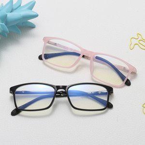 Блокировка антибликовым очки UV Детские анти-синие очки Blue Light Дети Оптические Frame Мальчик Девочка Компьютер Transparent