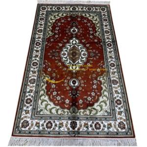 Große 100% Naturseide Handmade Oriental Bereich Teppich Blumen Persischer Teppich