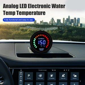 """2"""" 52 mm voiture numérique / analogique LED électronique Température de l'eau Indicateur de température fumée"""