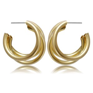 Women Iron Circles Earrings Irregular Shape Iron Ear Stud For Girls Fashion Decorations For Patry And Club