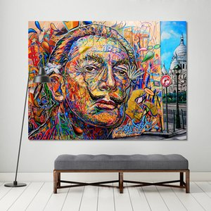 1 Pcs Wall Pictures For Living Room Street Canvas Art Home Decor Portrait Figure Painting Graffiti No Framed