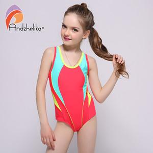 Andzhelika 2018 neue kinder bademode ein stück solide patchwork body kinder beachwear sport badeanzug badeanzug