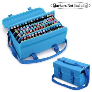 마크 터치 펜 가방 스케치 보관 가방 120분의 80 색 예술 마커 스케치 그리기 연필 케이스 미술 용품의 경우 회화