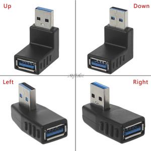 Cabos de computador Conectores de 90 graus Esquerda Direita angular USB 3.0 um macho para fêmea adaptador de conexão para PC portátil