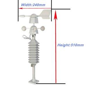 Rüzgar Hız Yön Sensörü Sıcaklık Diğer Saatler Aksesuarlar ile RF 433MHz Kablosuz Hava İstasyonu Saat