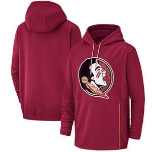 2019 New Men Штат Флорида Seminoles Толстовка Салют для обслуживания Sideline Therma Performance NCAA Красный пуловер с капюшоном