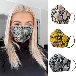 Mode-Leopard-Druck-Gesichtsmasken Designer Maske waschbare Staubdichtes Respirator Reiten Radfahren Frauen-Druck-Mund-Masken mit Masken Filter