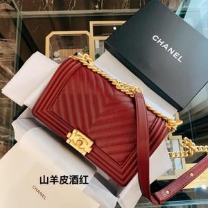 Moda Il Nuovo stile The Imported Primo Strato di Women Bag Genuine Leather Handbags con perline Top alta qualità delle donne Catene spalla