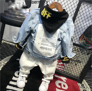 Kids Clothing Sets Fashion Cartoon Children Spring And Autumn Denim Jacket + Hoodies + Jeans 3pcs Boys Set Toddler Boys Clothing MX190803